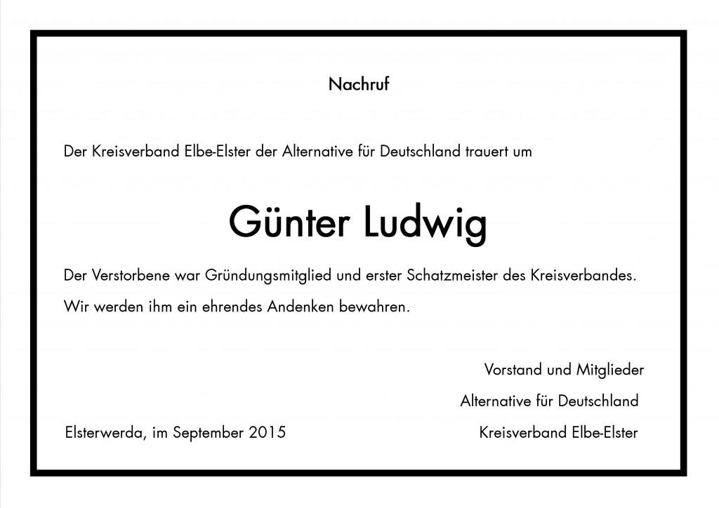 Nachruf Günter Ludwig
